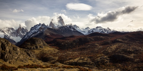 A 10 second window in the clouds that revealed both Cerro Torre and Fitz Roy.